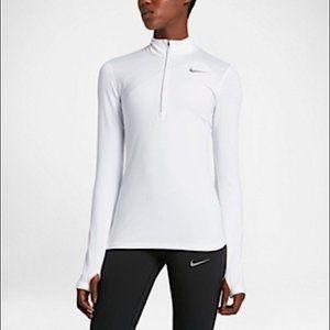 Nike Pro Dri-fit Running white 3/4 zip M
